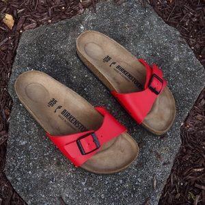 Red Madrid Birkenstock Sandals